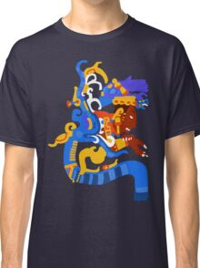 Human head emerging from a snake mouth  Classic T-Shirt
