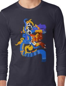 Human head emerging from a snake mouth  Long Sleeve T-Shirt