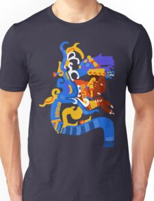 Human head emerging from a snake mouth  Unisex T-Shirt