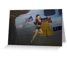 Liberty Belle Hottie  Greeting Card