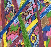 Crossroad Mosaic by Rebekah  McLeod