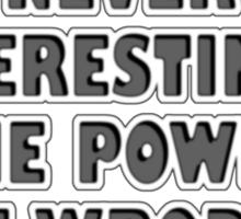 WORD POWER ... 2 Sticker