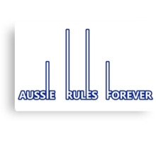 North Melbourne Kangaroos - Aussie Rules Forever Canvas Print