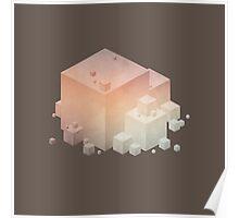 Pastel Vintage Cubes Poster
