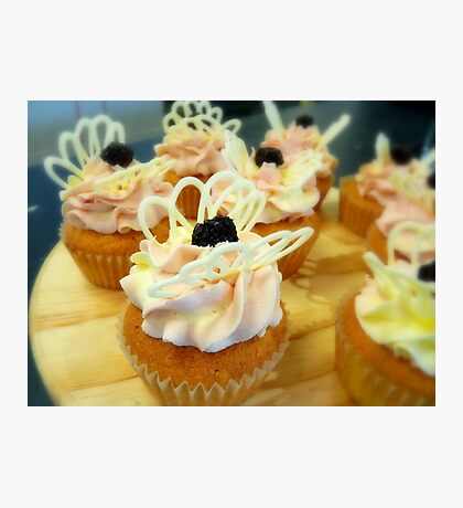 Berry & Chocolate Butterfly - Cupcake - NZ Photographic Print
