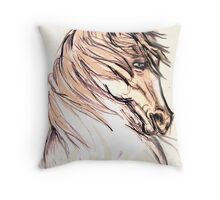 horse in movement Throw Pillow
