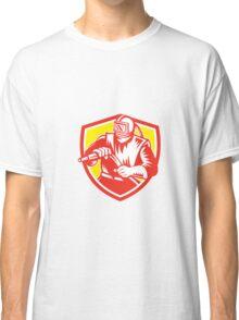 Sandblaster Sandblasting Hose Shield Retro Classic T-Shirt