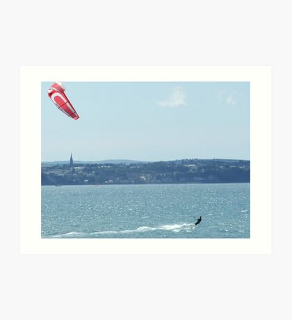 kite surfing Art Print