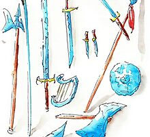 Arcaron: 12 cristal weapons by Arcaron Merchandising