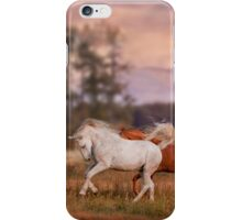 Grey and red stallions iPhone Case/Skin