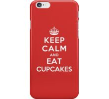 Keep Calm and eat Cupcakes iPhone Case/Skin