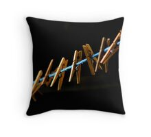 just pegs Throw Pillow