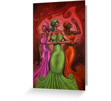 COLOR OF A WOMAN Greeting Card
