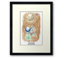 Arcaron: big white moon Framed Print