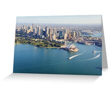 Sydney Opera House from Air Greeting Card