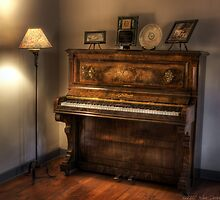 Grandma's Piano by Mike  Savad