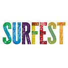 SURFEST 30 YEAR LOGO REVERSE by Throwing  Buckets Magazine