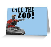 CALL THE ZOO! Greeting Card