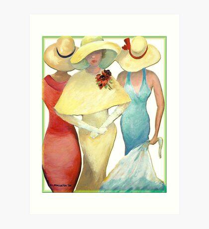 THREE LADIES Art Print