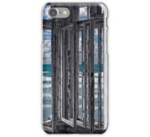 the ocean is coming to take it away . . . haha iPhone Case/Skin