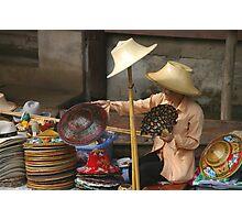 Hat Lady Photographic Print