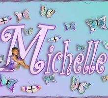 Butterflies Name Art - Michelle by cheerishables