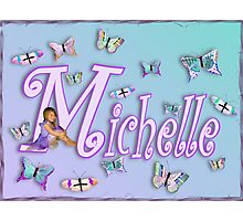 Butterflies Name Art - Michelle Photographic Print