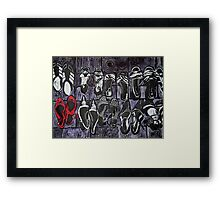 My Red Shoes Framed Print