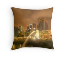 Singapore City Throw Pillow