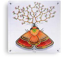 tree - moth (original sold) Metal Print