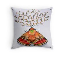 tree - moth Throw Pillow