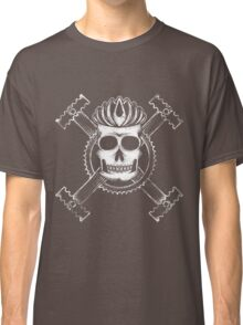Cycling skull and crossbones Classic T-Shirt