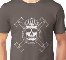 Cycling skull and crossbones Unisex T-Shirt