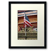Bald Patriotism Framed Print