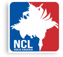 Gold Saucer's NCL!! - National Chocobo League Canvas Print