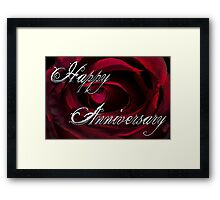 Anniversary Silver Framed Print