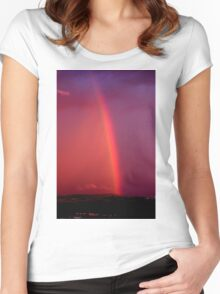 Rainbow after the Storm  Women's Fitted Scoop T-Shirt