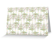 Vintage Christmas Trees Pattern Greeting Card