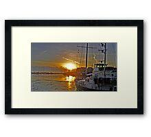 Volendam Sunset Framed Print