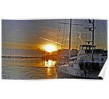 Volendam Sunset Poster