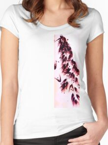 Falling Flowers Women's Fitted Scoop T-Shirt