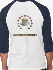 The Journey of Coffee [Light] Men's Baseball ¾ T-Shirt