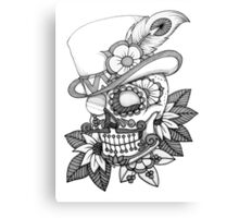 Tophat skull day of the dead Canvas Print