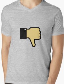 I don't like this! (Thumb Down) Mens V-Neck T-Shirt
