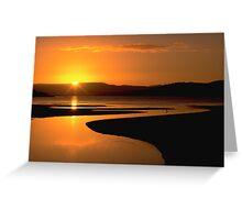 Ralphs Bay Sunset, Tasmania Greeting Card