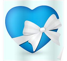 Valentine Blue Heart Poster