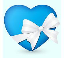 Valentine Blue Heart Photographic Print