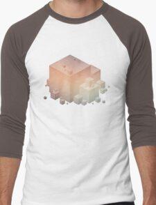 Pastel Vintage Cubes Men's Baseball ¾ T-Shirt