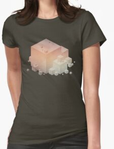 Pastel Vintage Cubes Womens Fitted T-Shirt