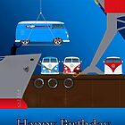 VW Birthday Card by Sharon Poulton